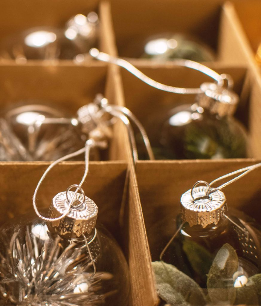 DIY filled glass ornaments