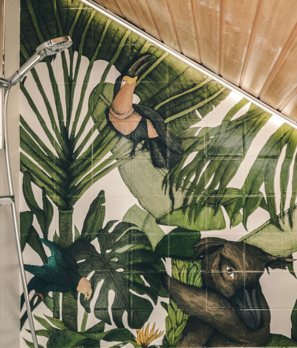 Jungle bathroom makeover